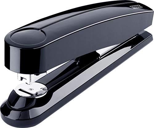 Novus B 5 FC Heftgerät (50 Blatt, Flachheftung, 90 mm Einlegetiefe, inkl. 200 Heftklammern) schwarz