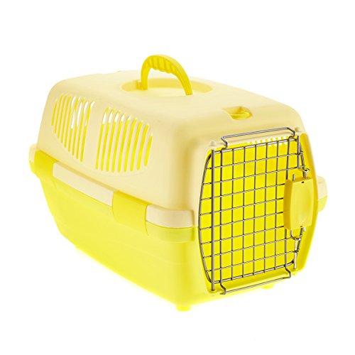 Little Friends Tansy Cage de Transport en Plastique pour Chat/Chien Jaune 46 x 30,5 x 28,3 cm
