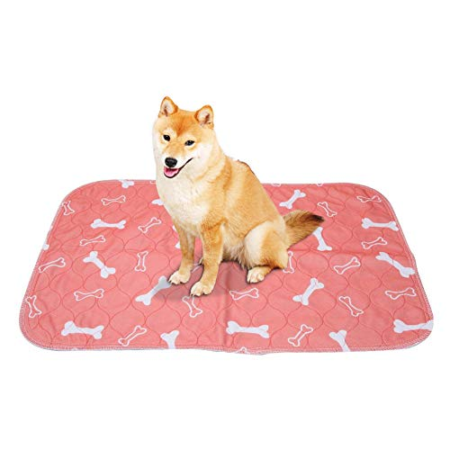 Smandy Pet Pee Pad, 3 Tamaños Reutilizable Impermeable Cachorro Perro Gato Pee Cama Cojín Alfombra Lavable Pet Trainging Pads Super Absorbente Perro Orina Estera(40 × 60cm)