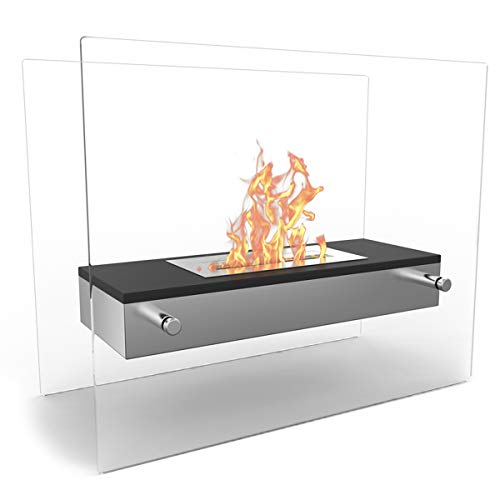 Find Bargain Regal Flame Elite Vista Tabletop Firepit Bio-ethanol Ventless Fireplace Black