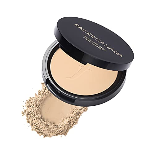 Faces Canada Weightless Stay Matte Compact Vitamin E & Shea Butter, Spf-20 Natural 02, 9 g