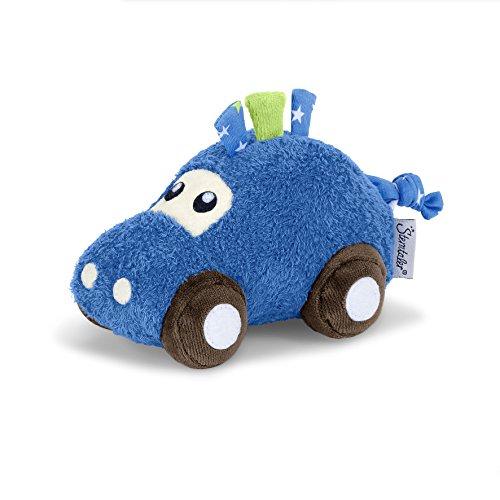 Sterntaler Spielfigur Auto, Mit Rassel und Knisterpapier, Alter: Für Babys ab der Geburt, 21 cm, Blau