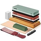 Knife Sharpening Stone Set, AHNR Premium Whetstone Knife Sharpener Kit...