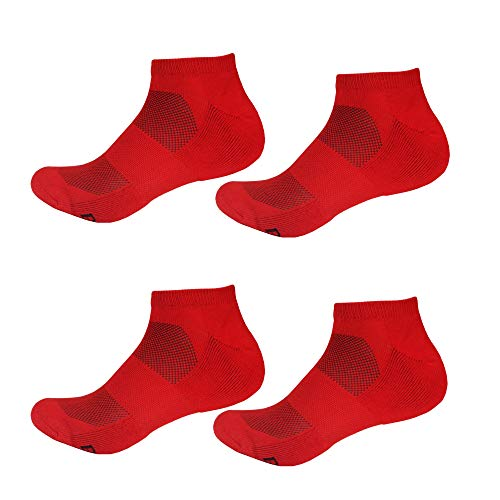 Men's Rayon from Bamboo Fiber Sports Superior Wicking Athletic Ankle Socks, Cherry Red, Men's XL (10-14)