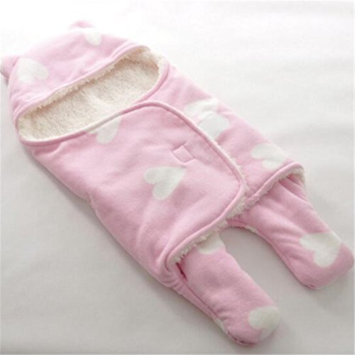 Gigoteuse d'emmaillotage-Turbulette Easy Swaddle Minky couverture (Rose)