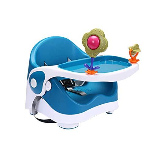 NXYJD Cena la Silla de bebé, Asiento del Recorrido del Elevador con Bandeja Plegable for bebé Trona portátil for Comer, Camping, Playa, césped (Color : Blue)