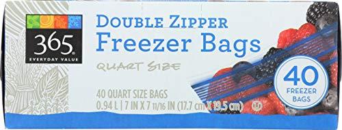 Box of 365 Everyday Value Double Zipper Freezer Bags
