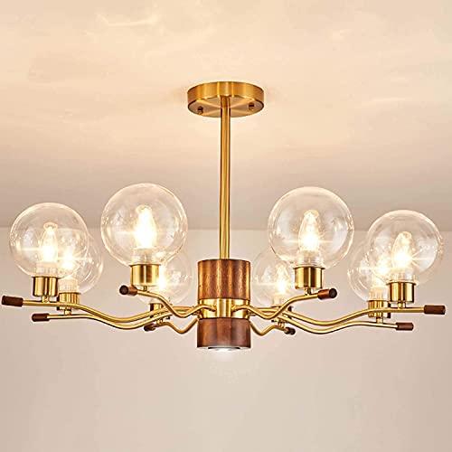 MHBGX Lámpara de Araña Sputnik de la Industria Moderna, Luces de Techo para el Hogar, Lámpara de Araña Creativa, Lámpara Colgante de 8 Luces, Lámparas de Araña Industriales, Accesorio de Iluminación