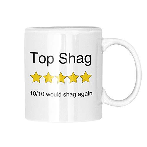 Top Shag - Taza de 5 estrellas, diseño de 5 estrellas, color blanco