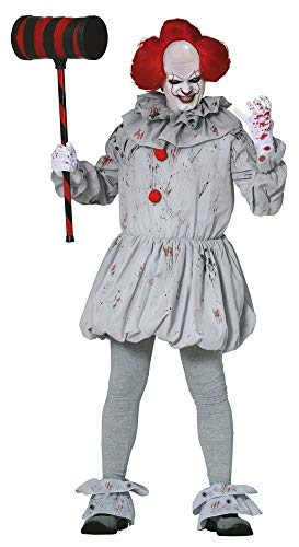 shoperama Herren-Kostüm Killer Clown Pennywise Halloween gruselig Horror Es Mörder gruselig boshaft, Größe:M