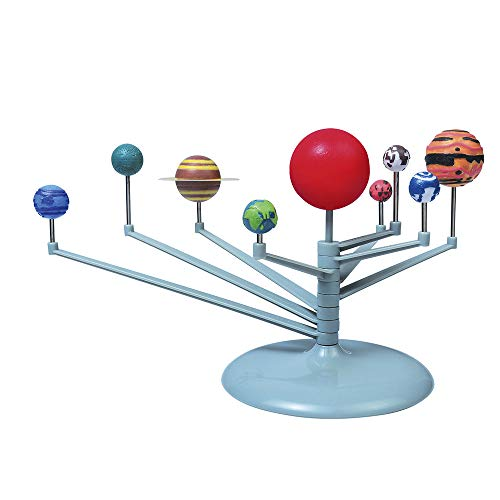3D Make Your Own Solar System Planetarium Model Kit, Paint Craft DIY Assembly Nine Planets Astronomy Science Educational Set for Children Adults