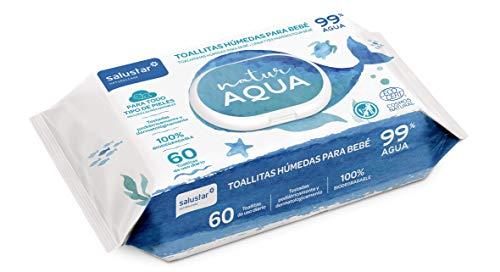 Toallitas húmedas Bebé Natur Aqua 60 unidades