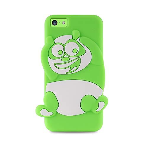 Puro IPCCPANDA3DGRN Funda con Tapa para Apple iPhone 5C Panda - 3D-Verde