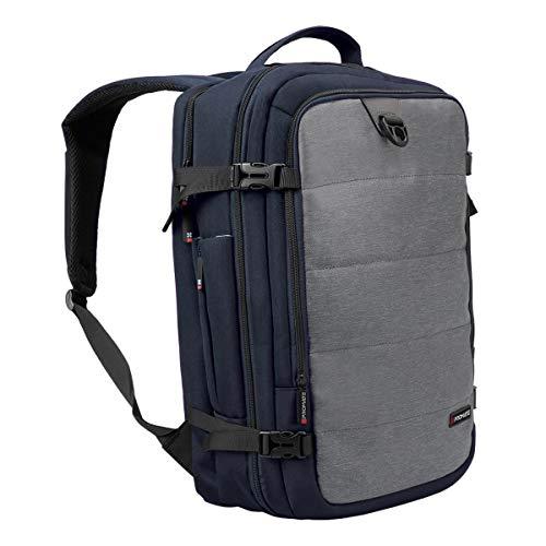 16 inch laptoprugzak, waterdichte reis-computer reistas met veilige organizertas, elastische mesh-zijzak, platte voorlader voor laptops.