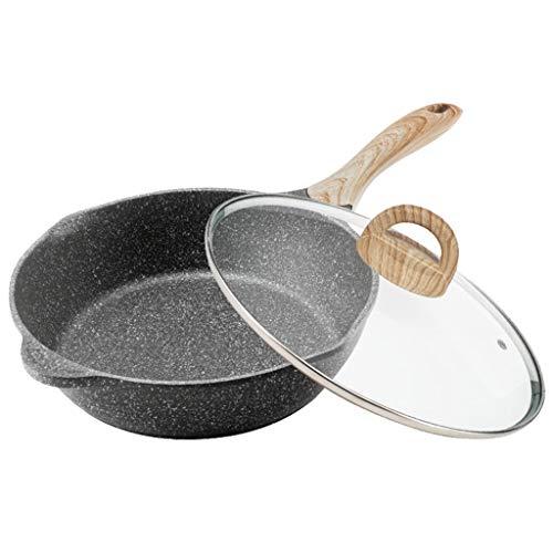 hsj LF- Sartén de inducción, antiadherente, sartén profunda antiadherente, olla de cocina para el hogar, estufa de gas, cocina de inducción general (tamaño: 32 cm)