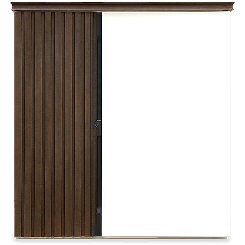 ガーデン収納 物置 ディーズシェッド リコ D70 ダーク Wh(112) カムロック錠 扉固定金具付き