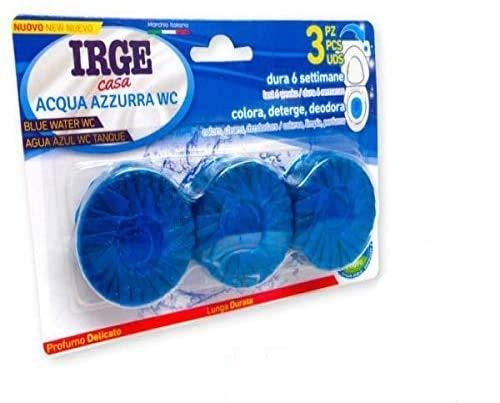 Irge Desodorante Agua Azul WC Paquete de 3Unidades