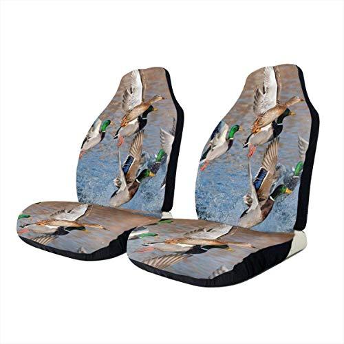 Preisvergleich Produktbild ngwanxinqu Autositzbezüge Fashion Beauty Mallard Ducks Jagd Vorne Autositzbezug Schutzkissen Nur Universal Fit Für Autos LKW SUV Van
