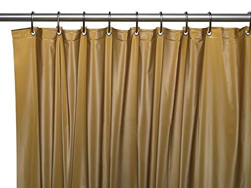 cortinas baño dorado