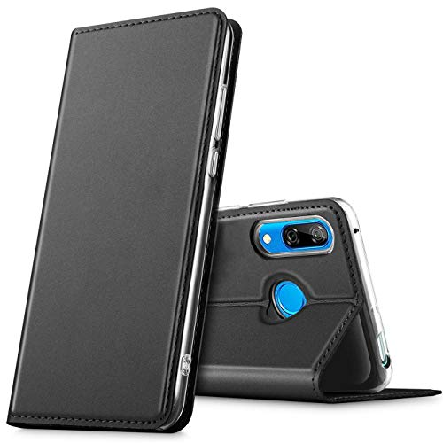 Verco Handyhülle für P Smart Z, Premium Handy Flip Cover für Huawei P Smart Z Hülle [integr. Magnet] Book Hülle PU Leder Tasche, Schwarz