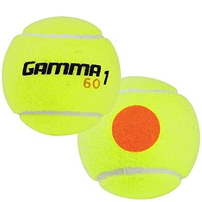 Gamma Sports Kids Training (Transition) Balls, Yellow/Orange Dot, 60 Orange Dot, Bucket of 48 by Gamma