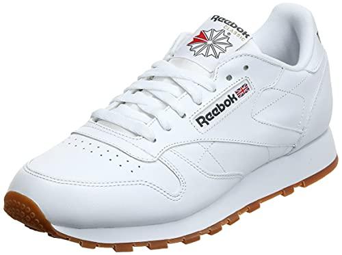 Reebok Classic Leather - Zapatillas de cuero para hombre, color blanco (white / gum 2), talla 41