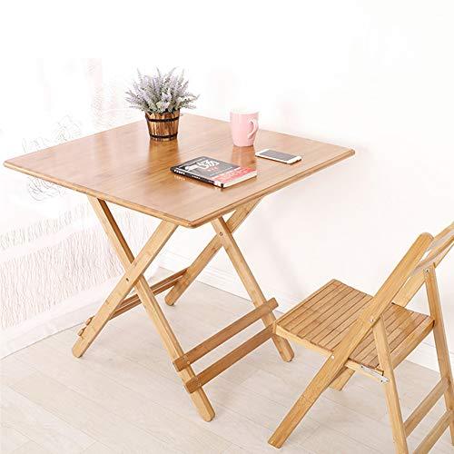 HCYTPL Ronde tafelbamboe en hout eenvoudige moderne opklapbare eettafel vierkante tafel klaptafel