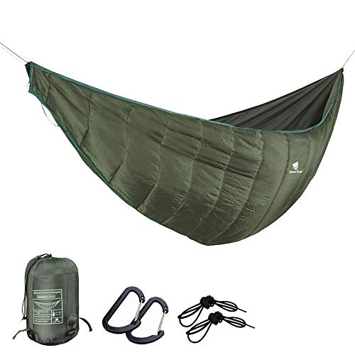 GEERTOP Portable Hammock Quilt Ultralight 3 Seasons Hammock Underquilt Warm Essential Outdoor Survival Gear for Camping Hiking Backpacking Travel