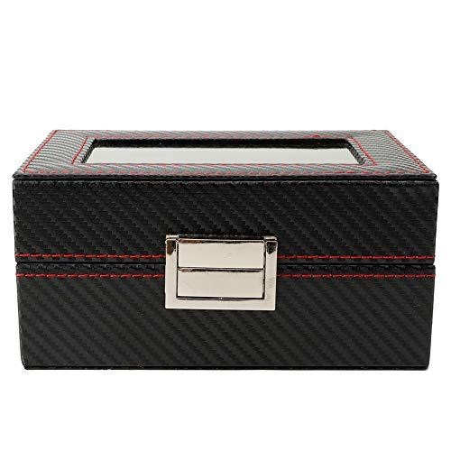3Grids - Caja de almacenamiento portátil para reloj de viaje con caja de almacenamiento para reloj de bloqueo