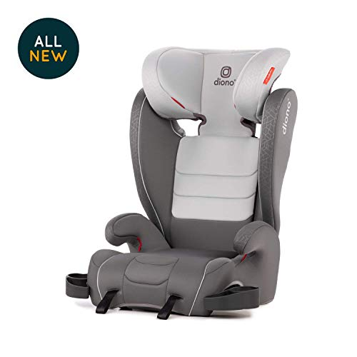 Diono Monterey XT Latch, 2-in-1 Expandable Booster Seat, Grey Dark