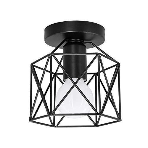 Artpad Vintage Loft Jaula de hierro negro Lámpara de techo