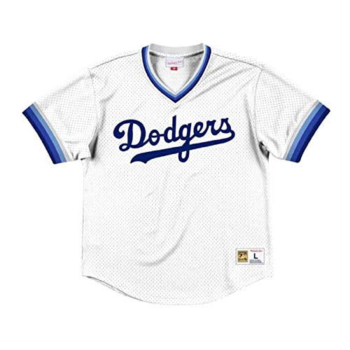Mitchell & Ness Los Angeles Dodgers Men's Mesh V-Neck Jersey (X-Large)