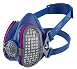 GVS SPR643 ELIPSE P100 Elastomeric Half Mask Respirator with Source Control for Healthcare Professionals with Replaceable and Reusable Filters Included, Blue, S/M Size