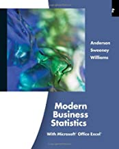 Modern Business Statistics, with Microsoft Office Excel