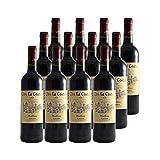 Clos la Coutale Rouge 2018 - Appellation AOC Cahors - Vin Rouge du Sud-Ouest - Lot de 12x75cl - Cépages Malbec, Merlot