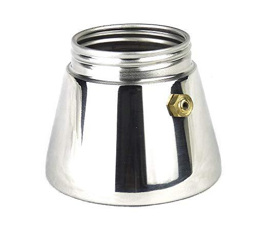 Ancap Ersatzteil: Edelstahl-Kessel für Espressokocher »Carina«, »Nicole«, »Darling« und »Carina biliardo« (4 Tassen) / Made in Italy
