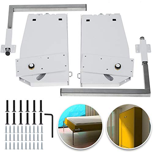 Tuorren DIY Murphy Bed Hardware Kit Horizontal Mounting Wall Bed Springs Mechanism Heavy Duty Bed Support Hardware DIY Kit for Queen Twin Size Bed (Vertical)