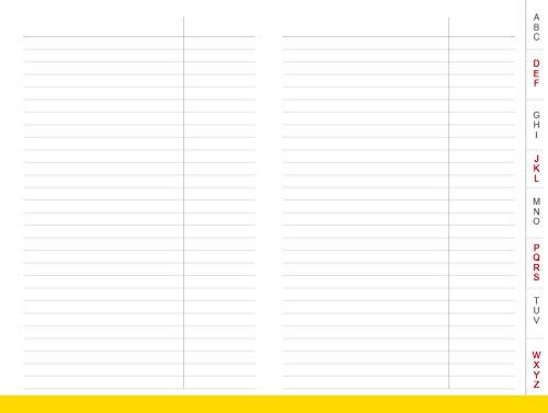 A7 Adressen mit Register für das revolutionäre X17-Notizbuch mit auswechselbaren Heften