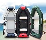 Fnho PVC Engrosado Bote Inflable de,Bote Inflable de Bomba de Mano,Barco de Pesca con Red de Clip, Barco de Goma Barco Inflable-Bristles_3.3m