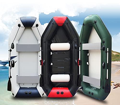 Fnho PVC Engrosado Bote Inflable de,Bote Inflable de Bomba de Mano,Barco de Pesca con Red de Clip, Barco de Goma Barco Inflable-Barlet_3M