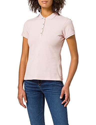 Springfield Polo Algodón Orgánico Camiseta, Rosa, L para Mujer