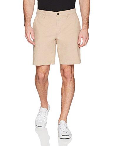 "Amazon Brand - Goodthreads Men's Slim-Fit 9"" Inseam Lightweight Comfort Stretch Oxford Shorts, British Khaki, 32"
