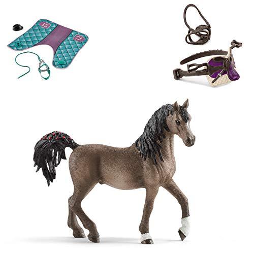 Horseclub Schleich 13907 Araber Hengst + Zubehör (42461 und 42491)