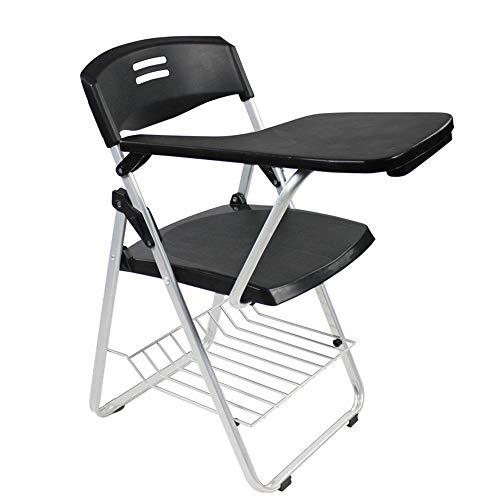 HO-TBO Office Trainingsstoel, eenvoudige plastic achterbank opvouwbare trainingsstoel vergaderstoel met schrijfbord en opslag voor kantoor school thuis hoorn stoel handig en praktisch