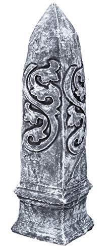 Steinskulptur Steinfigur Obelisk, Frost- und wetterfest, massiver Steinguss