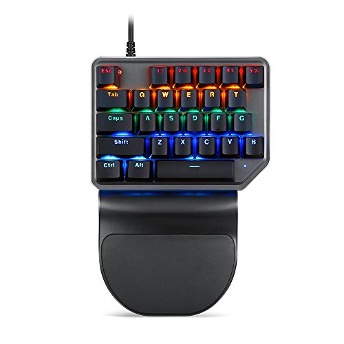 Docooler Motospeed K27 Gaming Tastatur Mixed Light Hintergrundbeleuchtung Ergonomie Design PC Wired USB Einhand 27 Tasten Mechanische Tastatur für PUBG