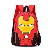 2021 Nueva Mochila para niños de Gran Capacidad, Multicapa, multifunción, versátil, Moda, niño, Mochila de Dibujos Animados, Mochila Escolar-Trompeta Red Iron Man