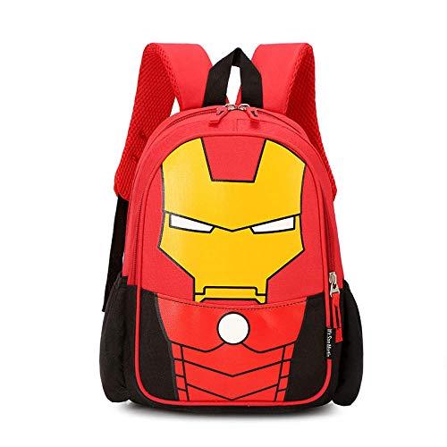 Multifunktionale Schultasche 2021 Trend Mode All-Match Grundschule Cartoon Outdoor niedlichen Rucksack Kindergarten Rucksack-Trompete Red Iron Man