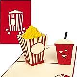 PaperCrush® Pop-Up Karte Kino Gutschein - 3D Gutscheinkarte als Verpackung für Kinogutschein,...