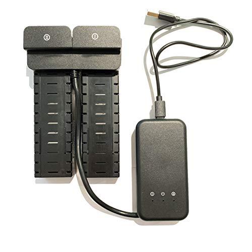 Holy Stone 2 x 2800mAh Drohnenbatterien + USB-Ladekabel + Ladegerät für FPV GPS-Drohne HS700D